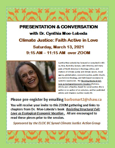 Climate Justice Action Group presents: Faith Active in Love via Zoom